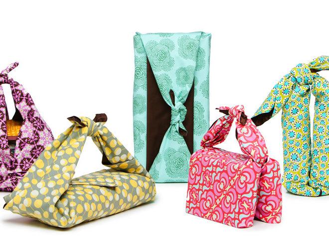 Técnica Furoshiki, envolver regalos sin usar papel